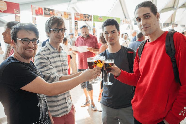 Friends Enjoying the Belgian Beer Festival