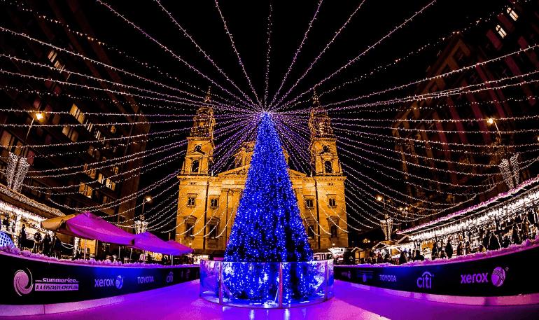Christmas Fair at St. Stephen's Basilica, Budapest