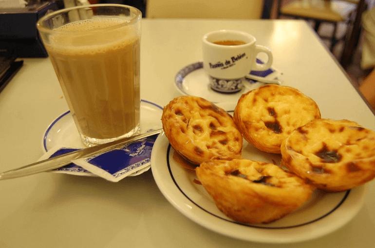 Pastel de Nata With Coffee